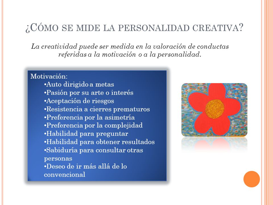 ¿Cómo se mide la personalidad creativa