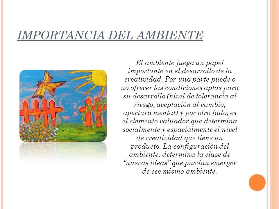 IMPORTANCIA DEL AMBIENTE