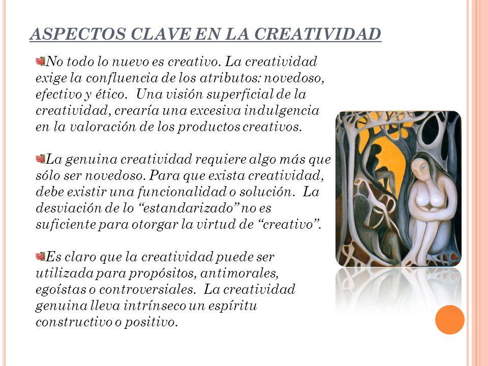 ASPECTOS CLAVE EN LA CREATIVIDAD