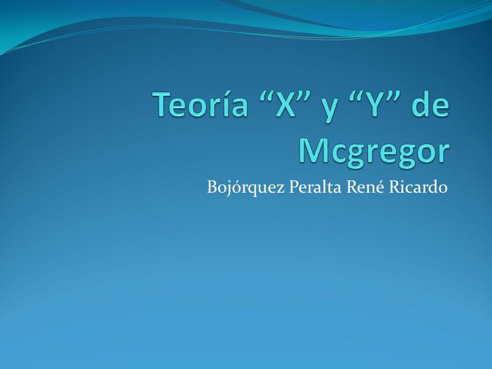 Teoría X y Y de Mcgregor