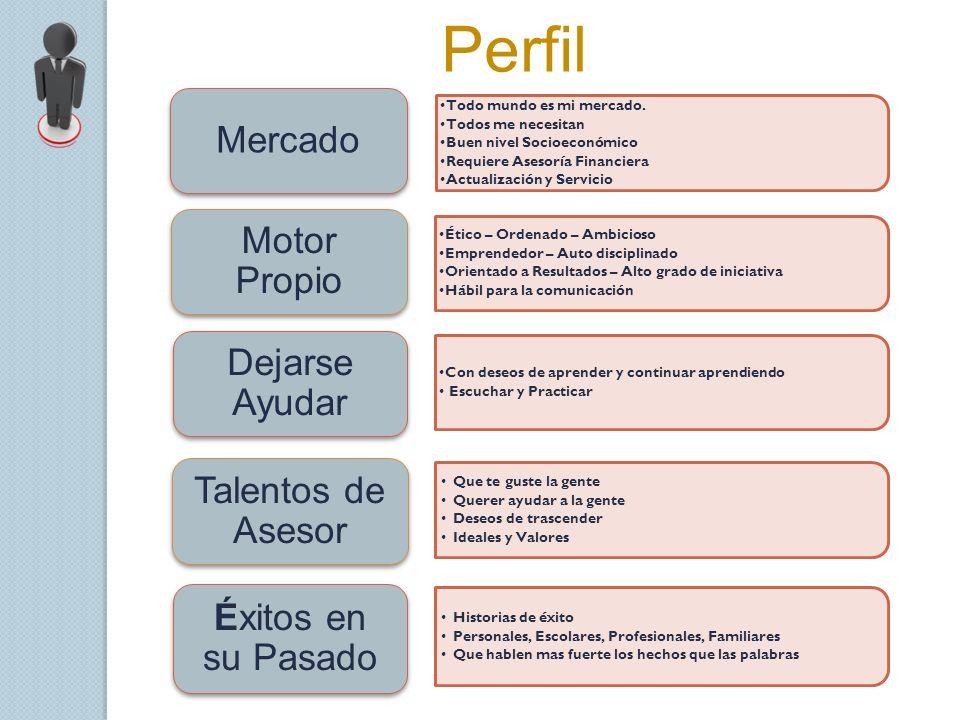 Perfil Mercado Motor Propio Dejarse Ayudar Talentos de Asesor