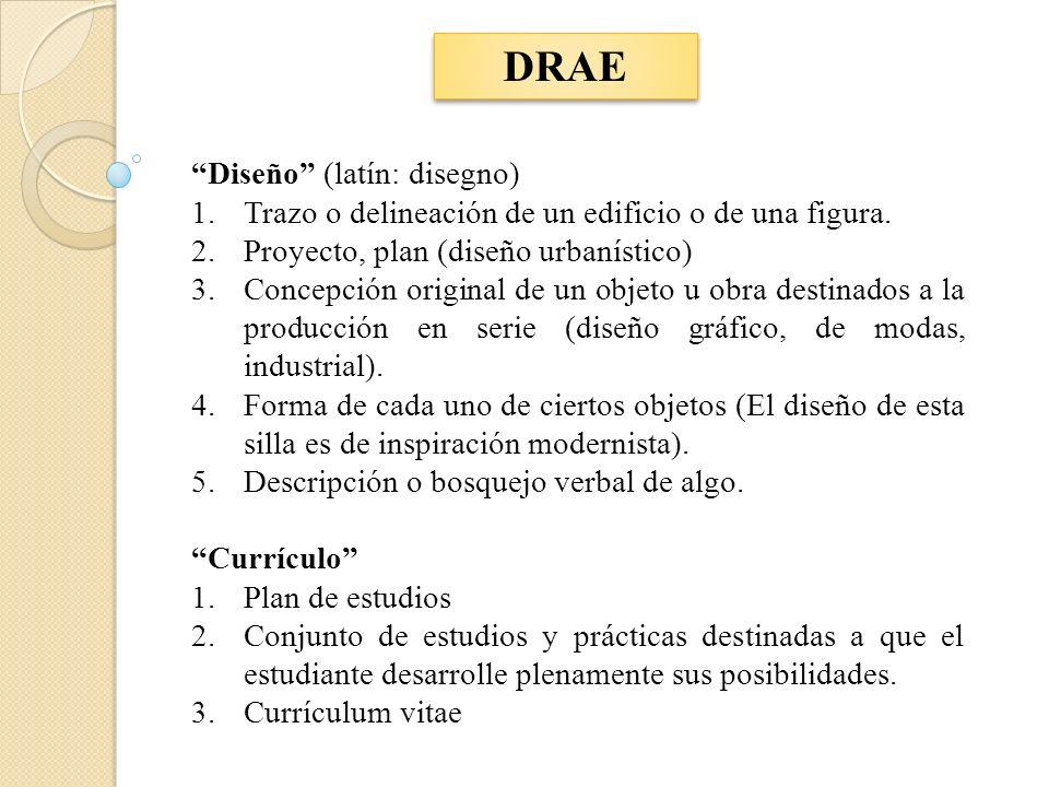 DRAE Diseño (latín: disegno)