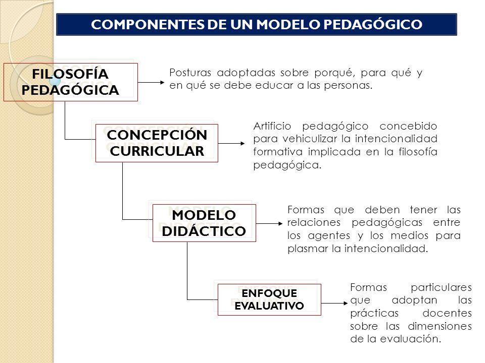 COMPONENTES DE UN MODELO PEDAGÓGICO CONCEPCIÓN CURRICULAR
