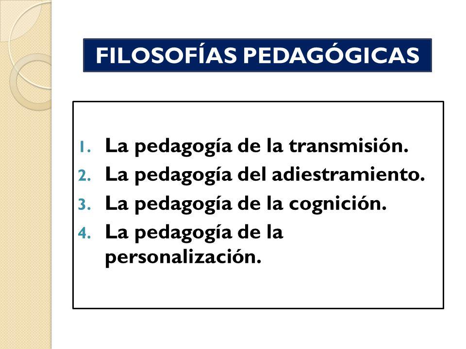 FILOSOFÍAS PEDAGÓGICAS