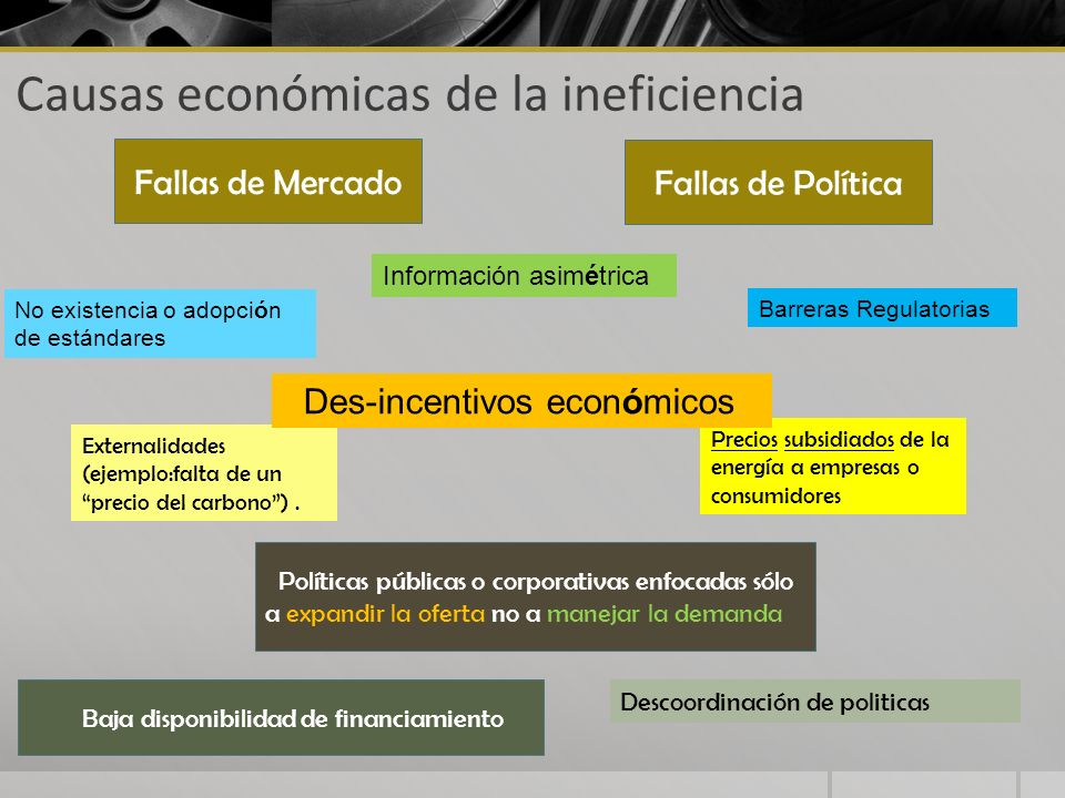 Causas económicas de la ineficiencia