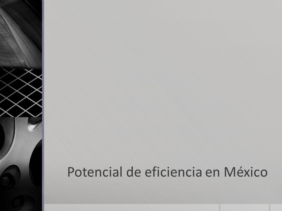 Potencial de eficiencia en México