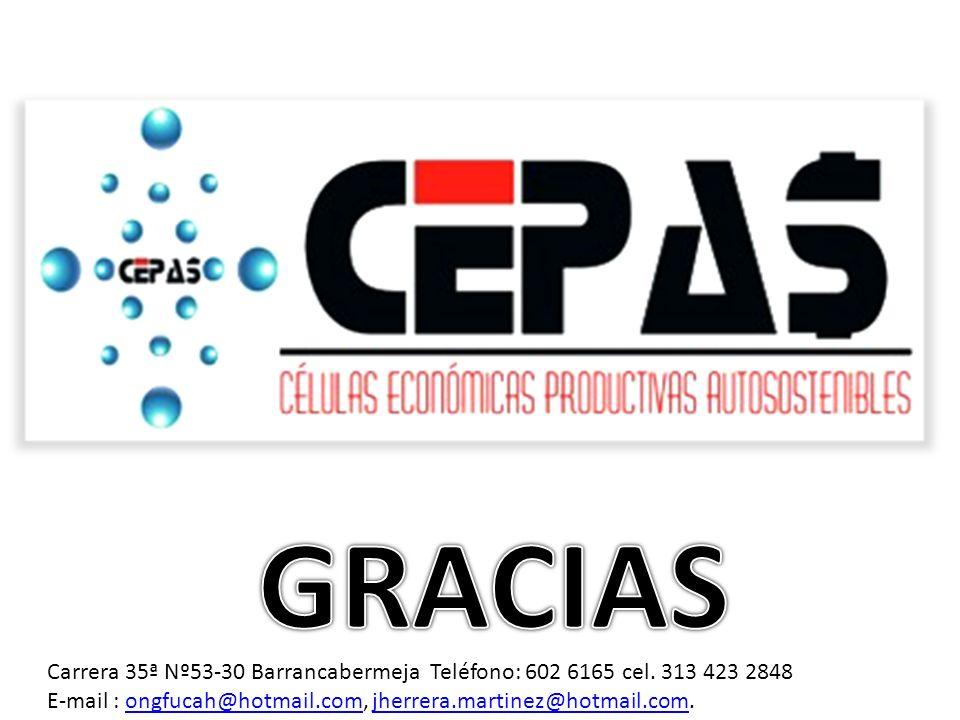 GRACIAS Carrera 35ª Nº53-30 Barrancabermeja Teléfono: 602 6165 cel.
