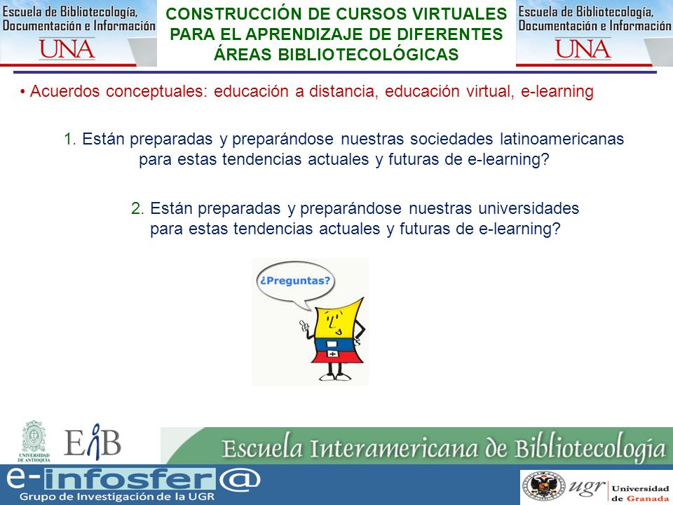 para estas tendencias actuales y futuras de e-learning