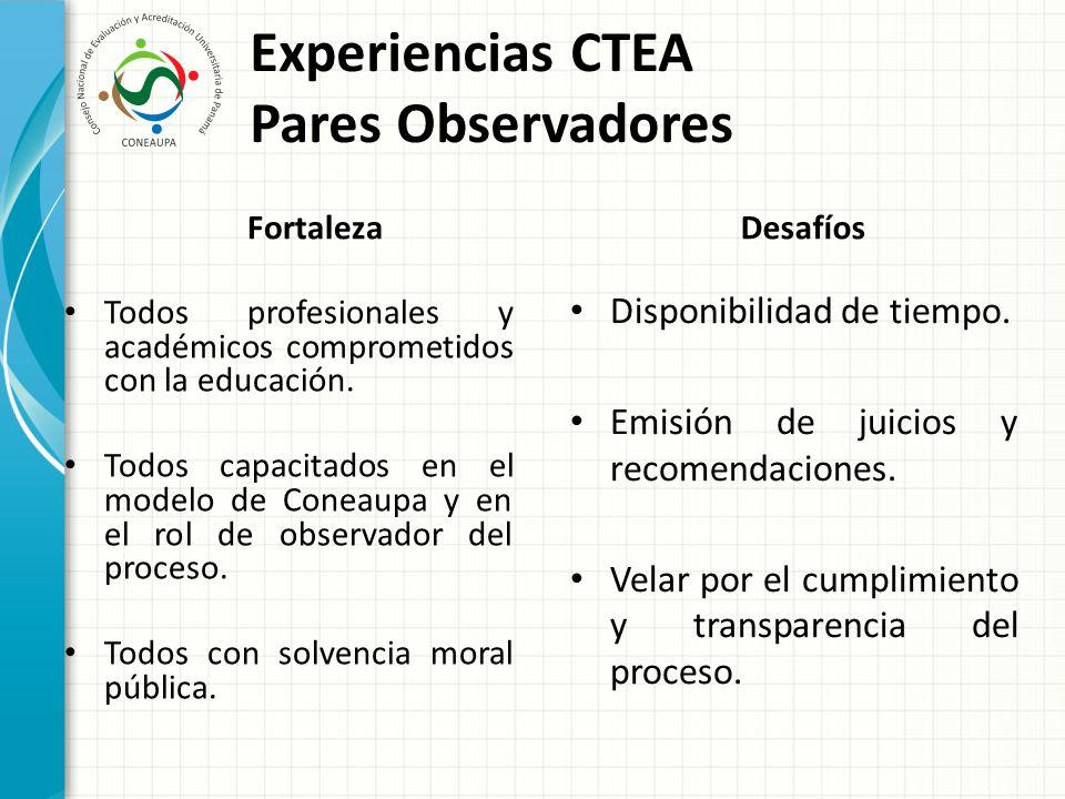 Experiencias CTEA Pares Observadores