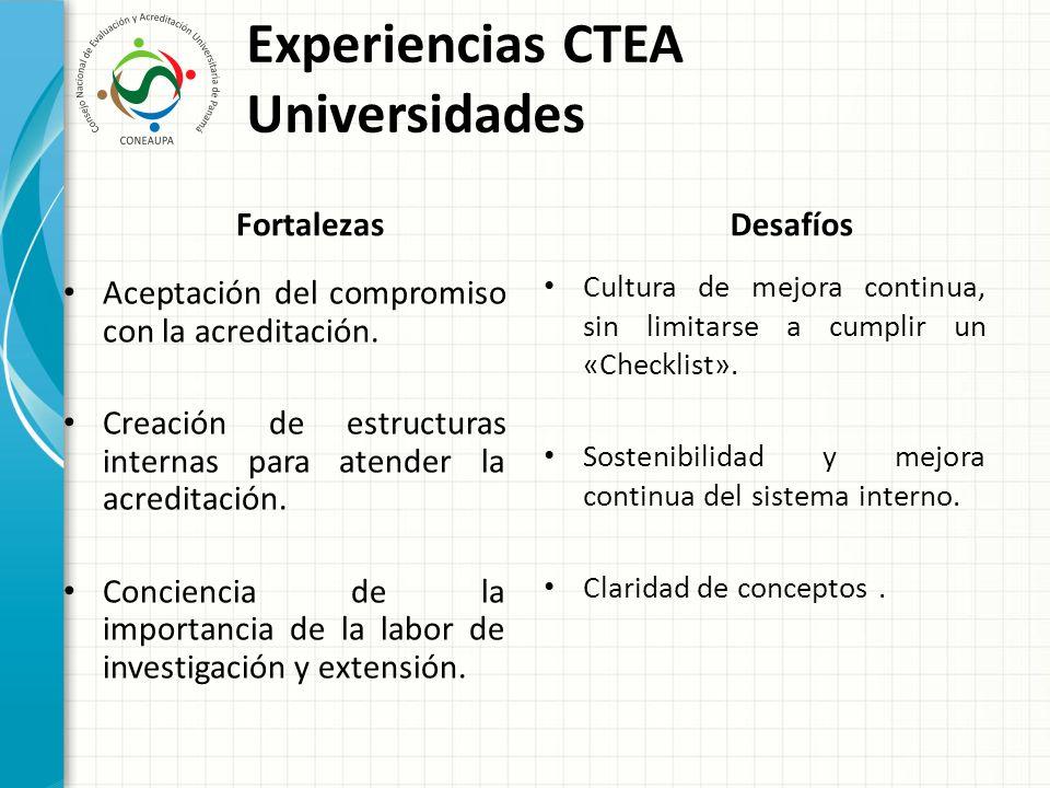 Experiencias CTEA Universidades