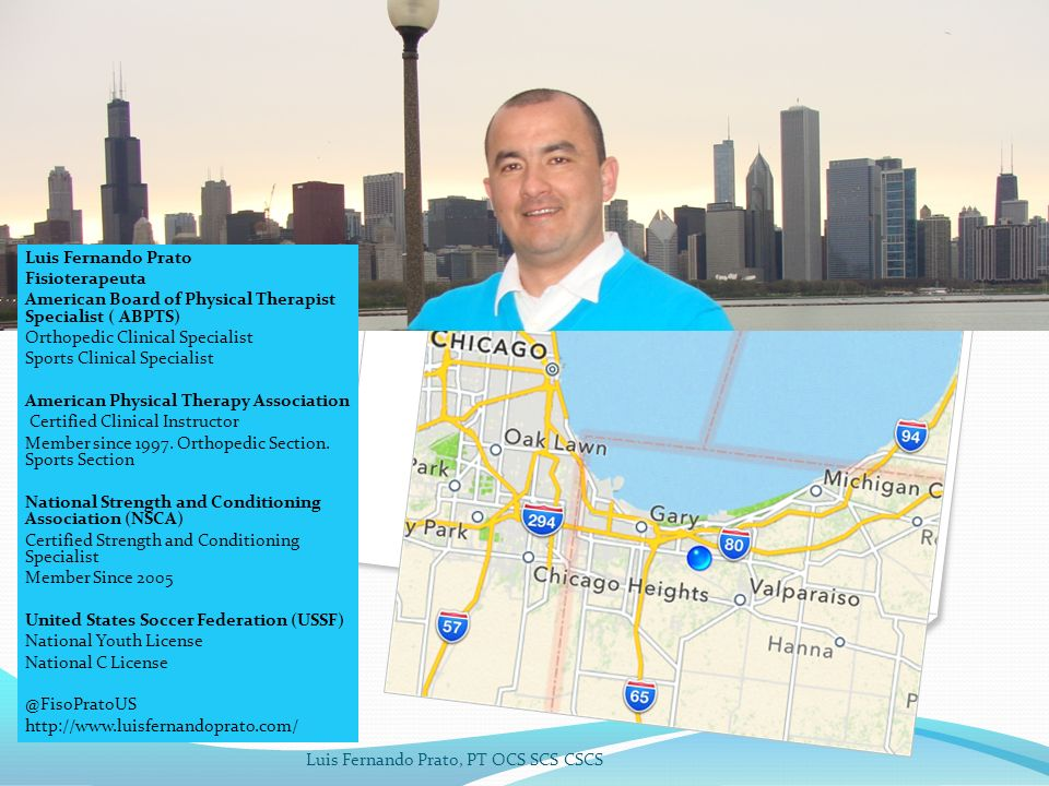 Luis Fernando Prato Fisioterapeuta. American Board of Physical Therapist Specialist ( ABPTS) Orthopedic Clinical Specialist.