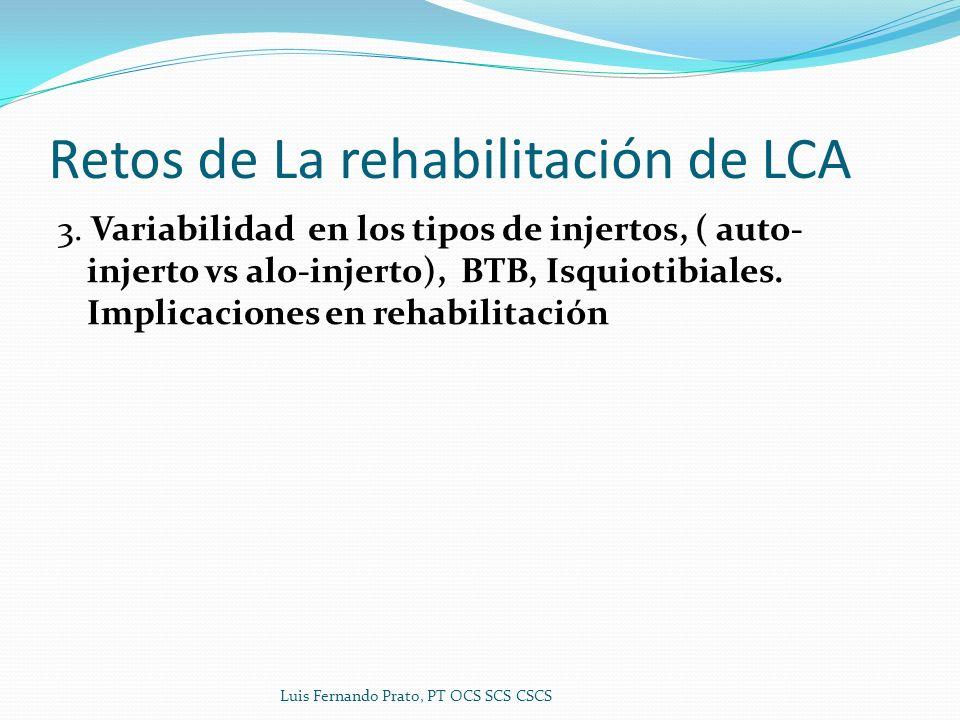 Retos de La rehabilitación de LCA