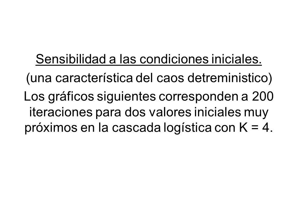 Sensibilidad a las condiciones iniciales.