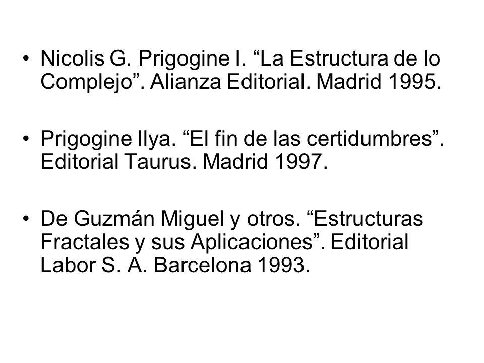 Nicolis G. Prigogine I. La Estructura de lo Complejo