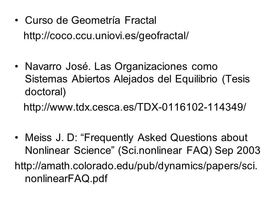 Curso de Geometría Fractal