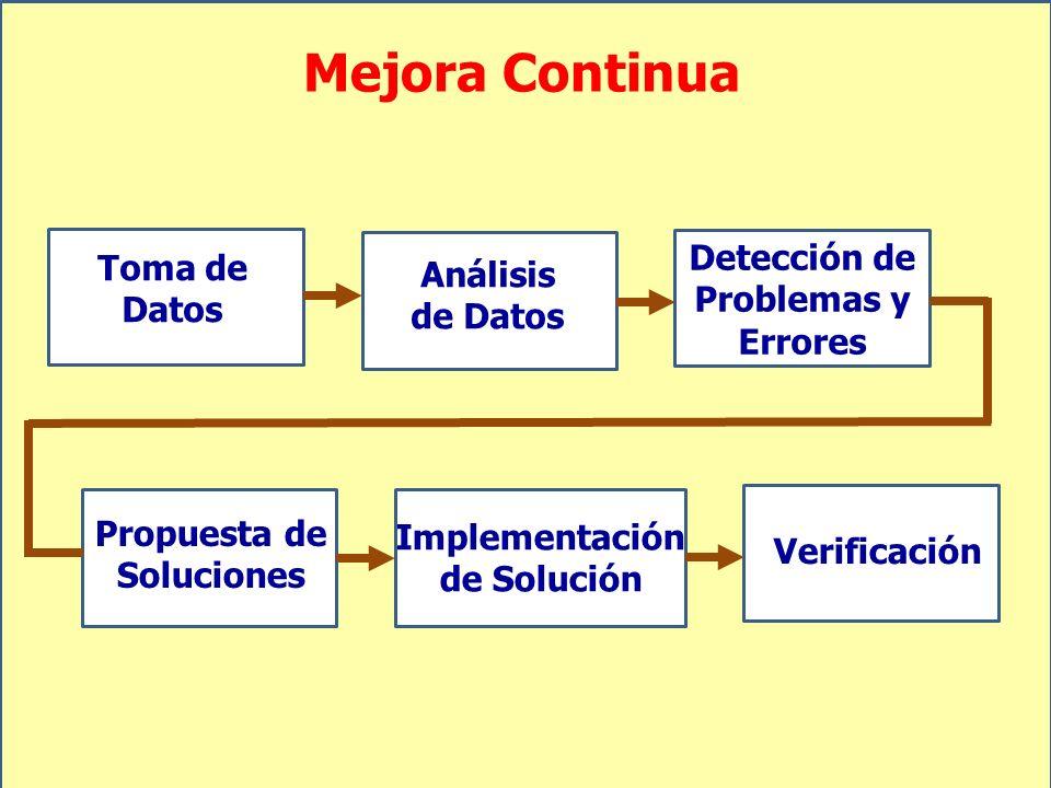 Mejora Continua Detección de Problemas y Errores Toma de Datos