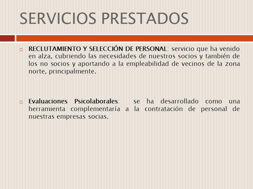 SERVICIOS PRESTADOS