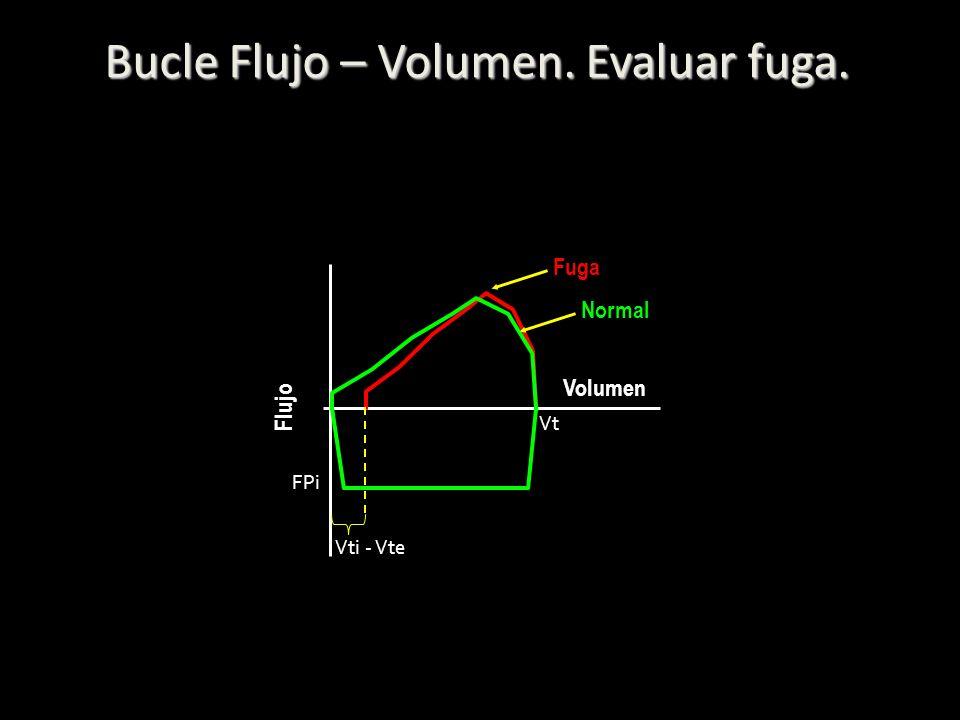 Bucle Flujo – Volumen. Evaluar fuga.