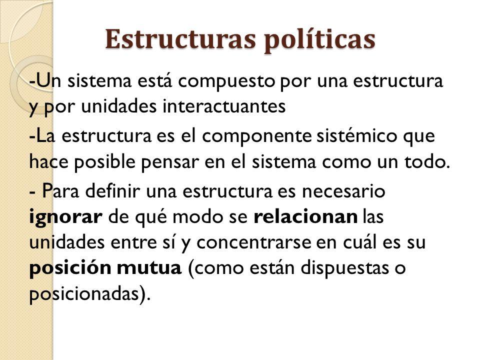 Estructuras políticas