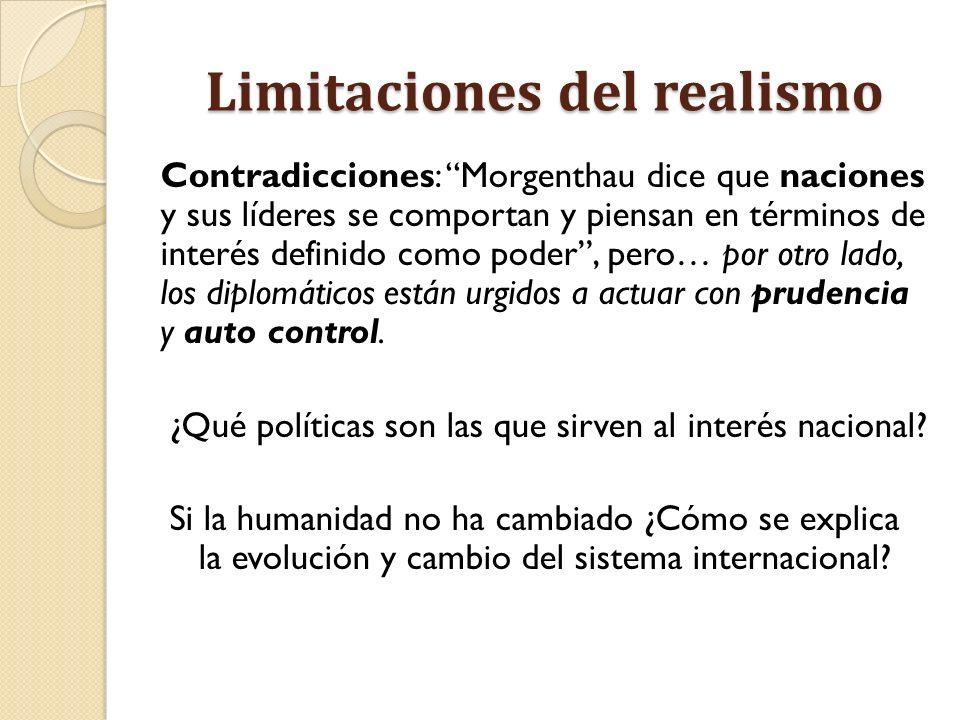 Limitaciones del realismo