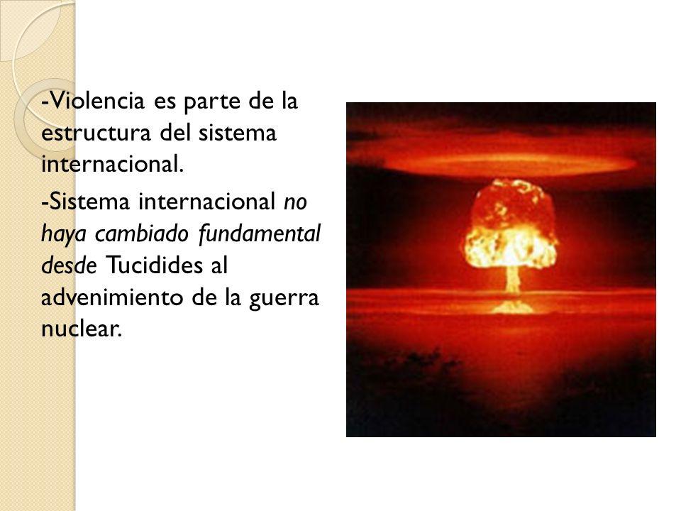 -Violencia es parte de la estructura del sistema internacional