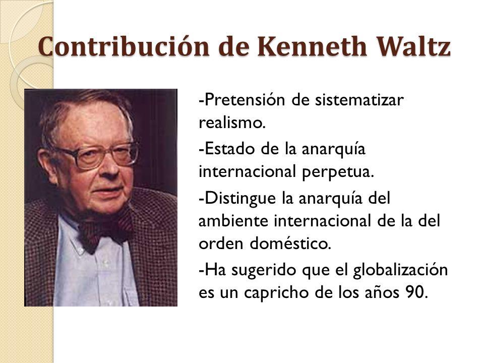 Contribución de Kenneth Waltz