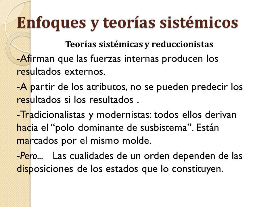 Enfoques y teorías sistémicos