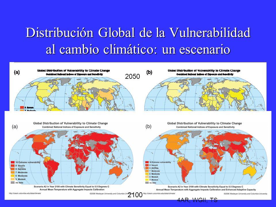 Distribución Global de la Vulnerabilidad al cambio climático: un escenario