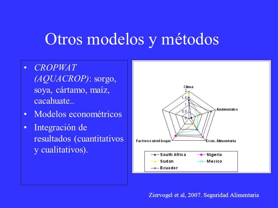Otros modelos y métodos
