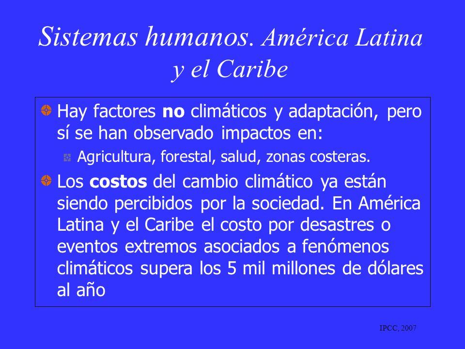 Sistemas humanos. América Latina y el Caribe