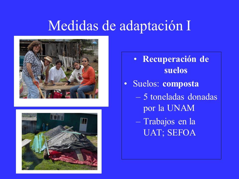 Medidas de adaptación I