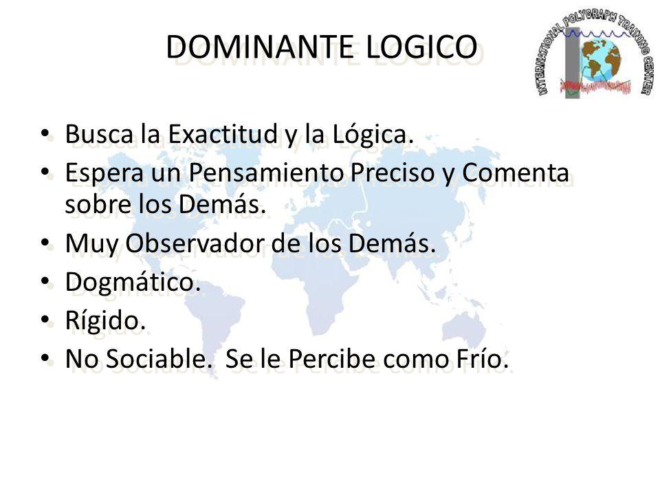 DOMINANTE LOGICO Busca la Exactitud y la Lógica.