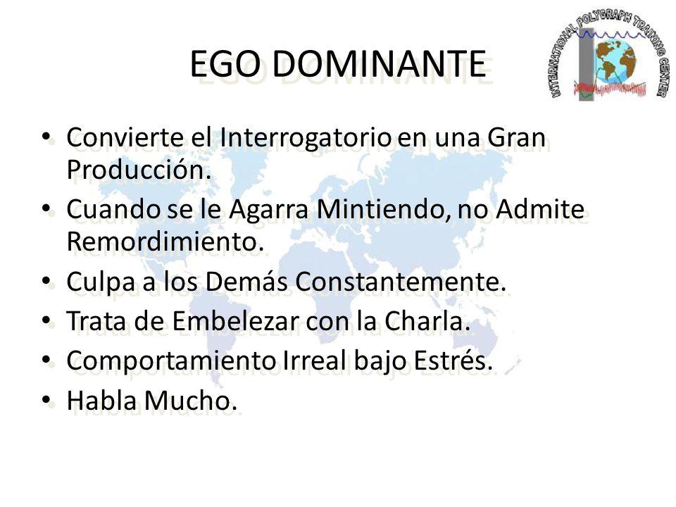 EGO DOMINANTE Convierte el Interrogatorio en una Gran Producción.