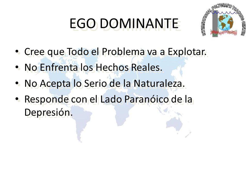 EGO DOMINANTE Cree que Todo el Problema va a Explotar.