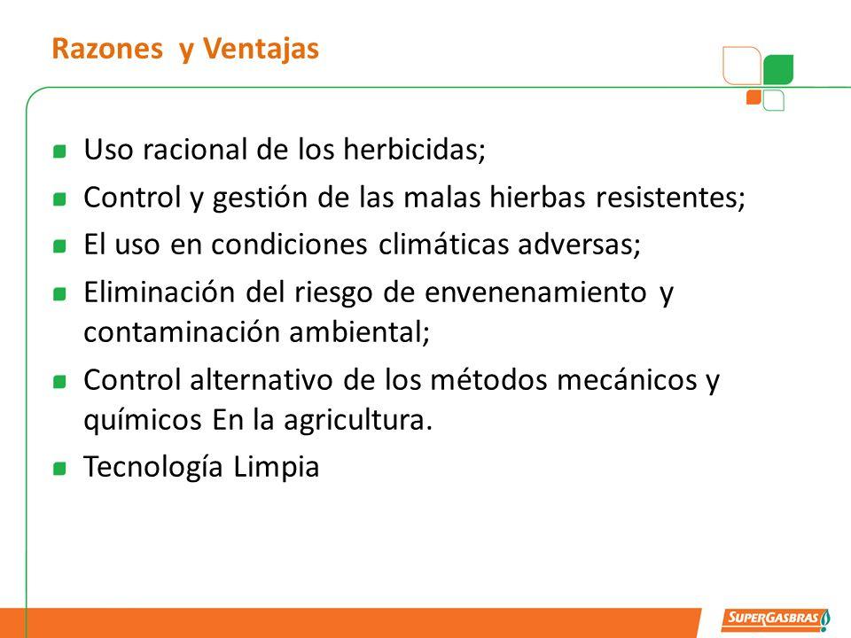 Razones y Ventajas Uso racional de los herbicidas; Control y gestión de las malas hierbas resistentes;