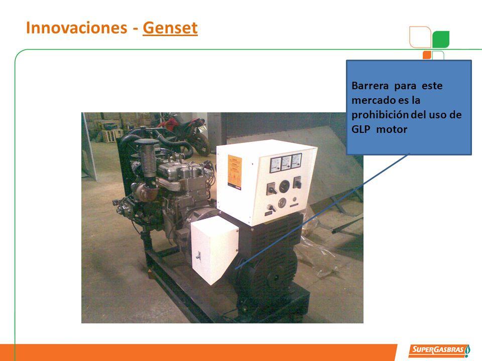 Innovaciones - Genset Barrera para este mercado es la prohibición del uso de GLP motor