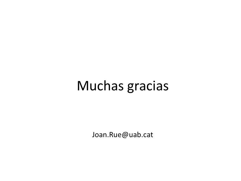 Muchas gracias Joan.Rue@uab.cat