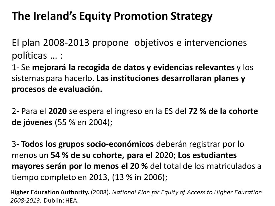 The Ireland's Equity Promotion Strategy