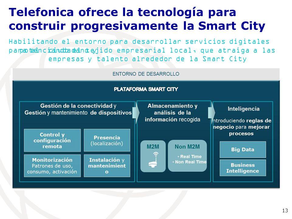 Telefonica ofrece la tecnología para construir progresivamente la Smart City
