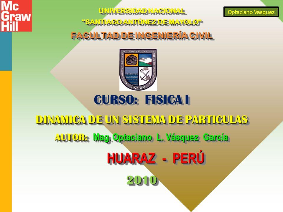 CURSO: FISICA I 2010 DINAMICA DE UN SISTEMA DE PARTICULAS