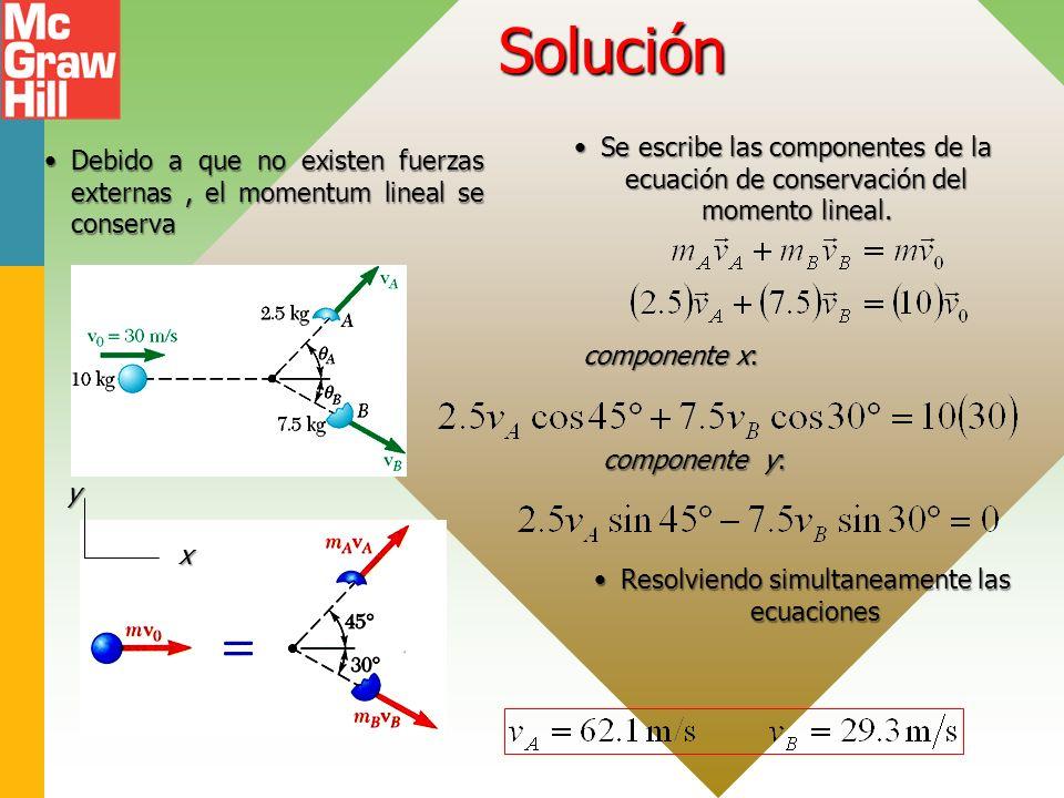 Resolviendo simultaneamente las ecuaciones