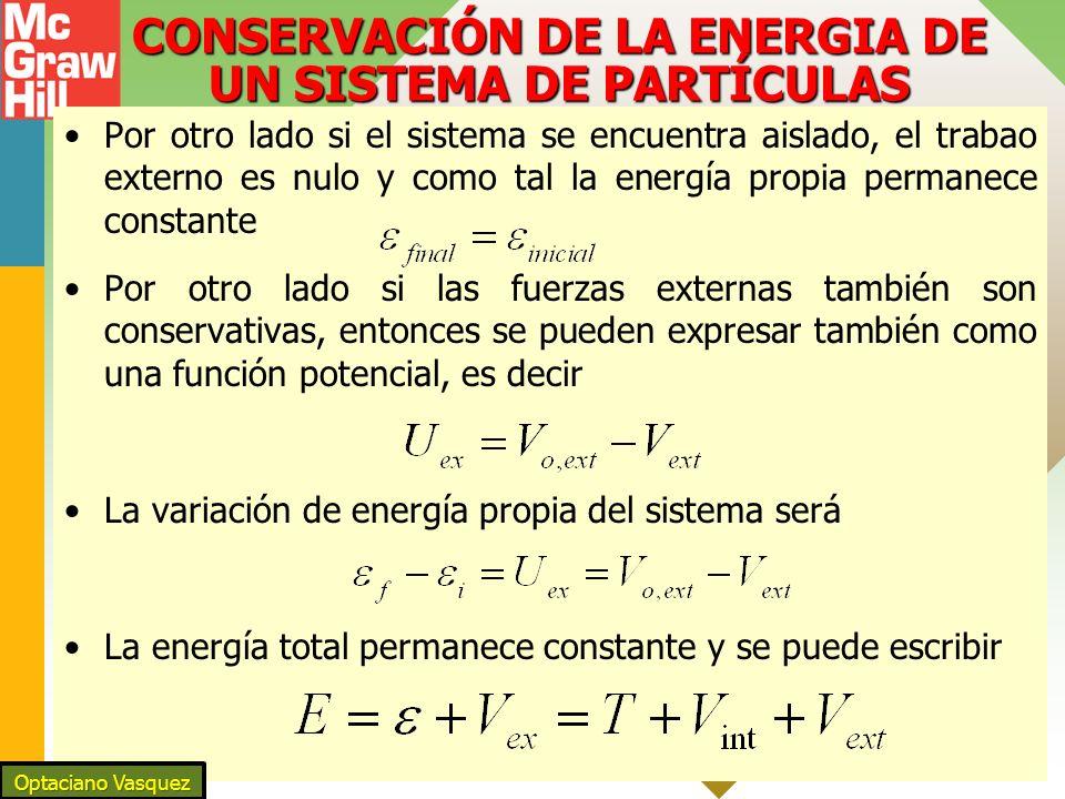 CONSERVACIÓN DE LA ENERGIA DE UN SISTEMA DE PARTÍCULAS