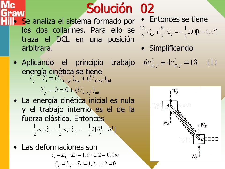 Solución 02 Entonces se tiene