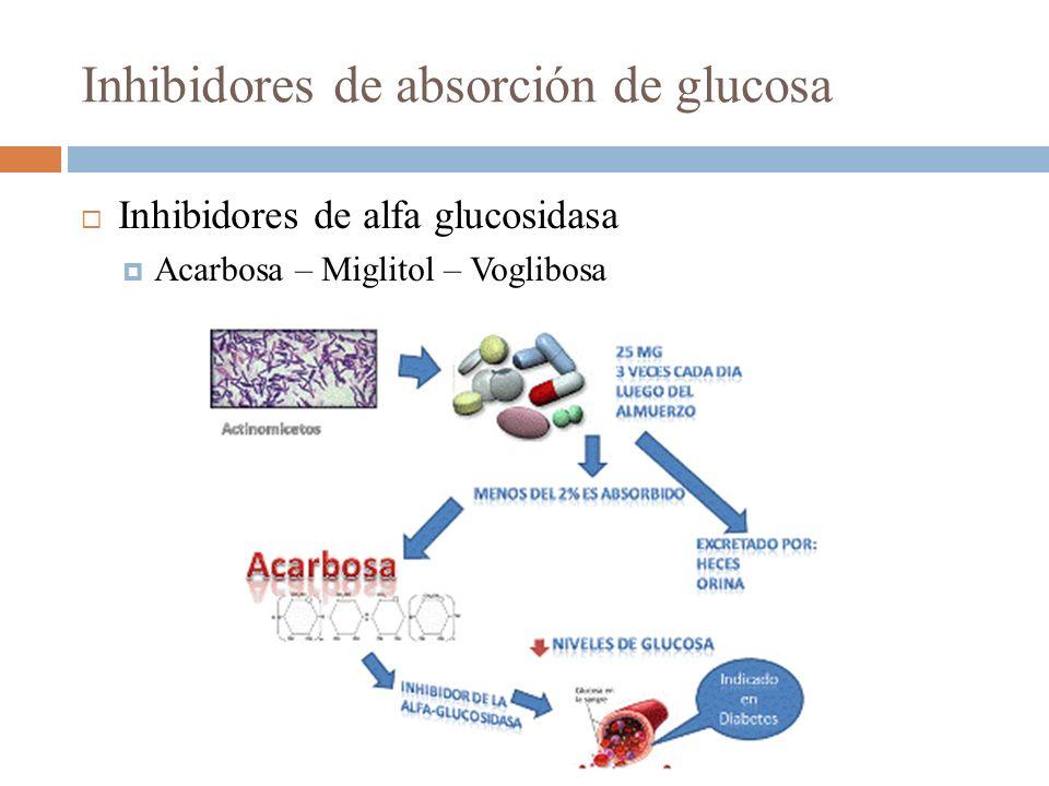 Inhibidores de absorción de glucosa