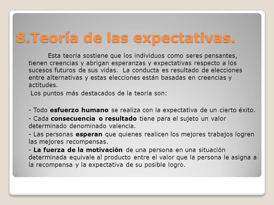 8.Teoría de las expectativas.