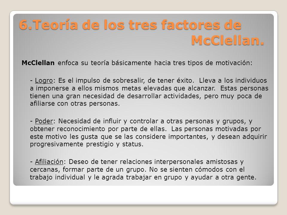 6.Teoría de los tres factores de McClellan.