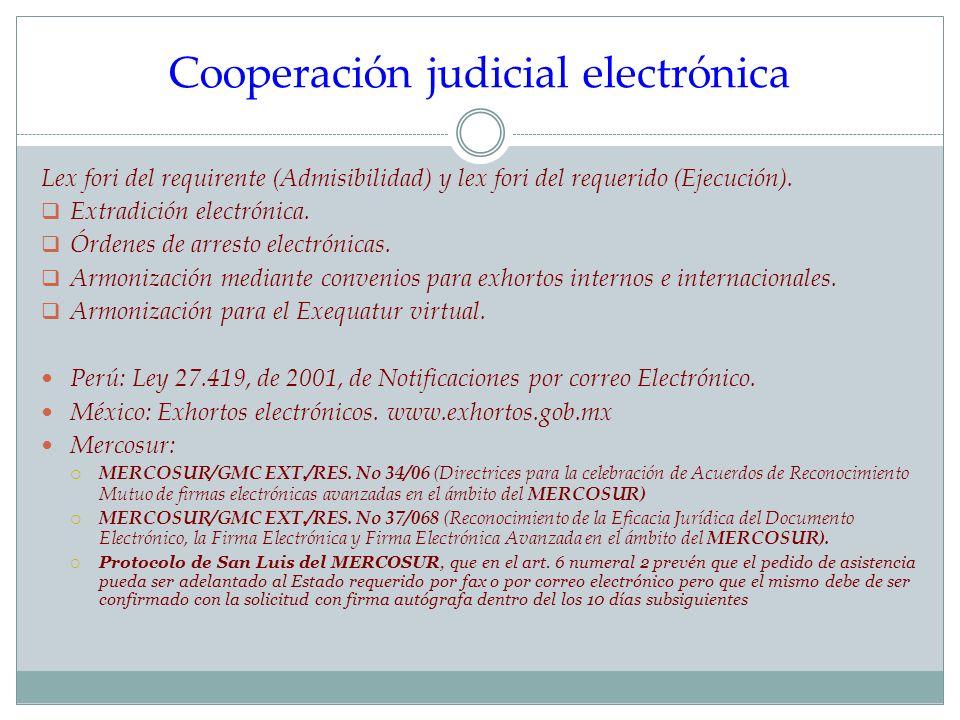Cooperación judicial electrónica