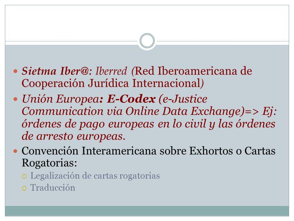 Sietma Iber@: Iberred (Red Iberoamericana de Cooperación Jurídica Internacional)