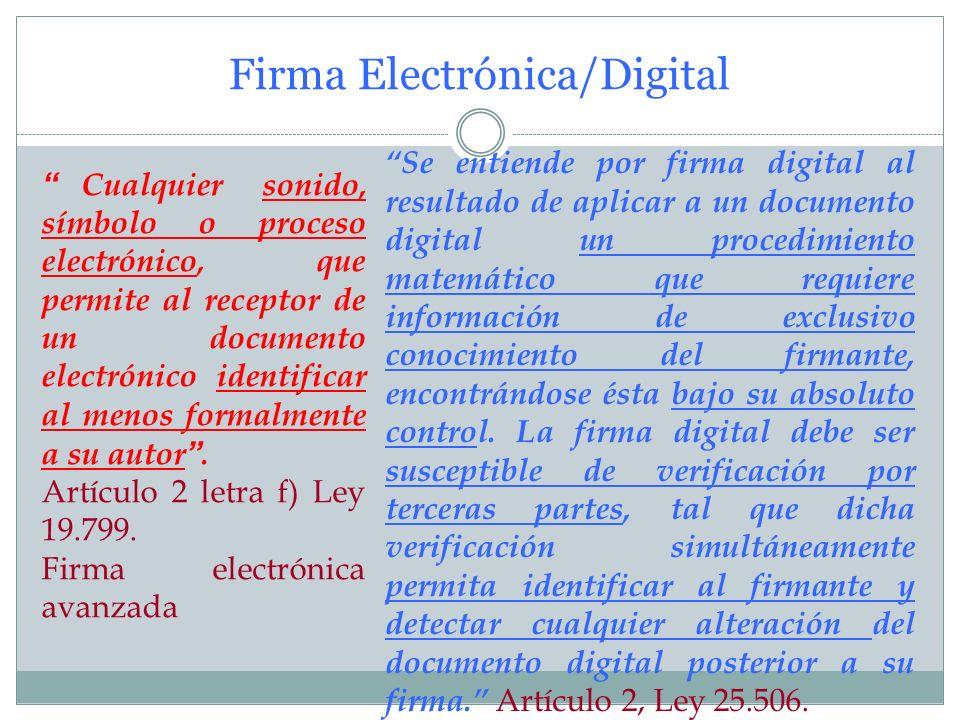 Firma Electrónica/Digital