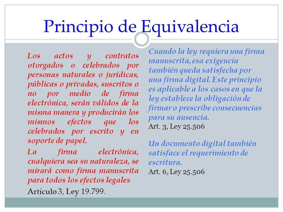 Principio de Equivalencia